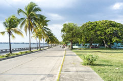 Malecon - boulevard along the sea in Cienfuegos, Cuba. North America Royalty Free Stock Photos