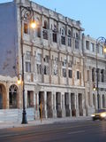 Malecon Buildings 1. Crumbling buildings line the street along Malecon in Havana Cuba Stock Images