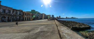 Malecon De Los angeles Habana, Hawański Kuba Obrazy Royalty Free
