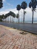 Malecon de santo domingo. Avenida George Washington en santo domingo con vista a la playa Stock Image