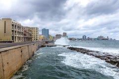Malecon di Avana, Cuba Fotografia Stock
