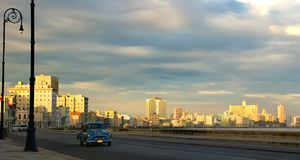 Malecon di Avana di mattina Fotografia Stock