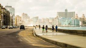 Malecon di Cuba Avana Fotografie Stock