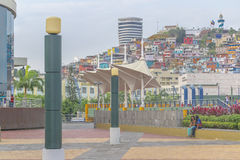 Malecon 2000 Guayaquil Ecuador. GUAYAQUIL, ECUADOR - OCTOBER - 2015 - Urban scene at the famous Malecon 2000 located at riverfront of guayas river in the city of Stock Photography