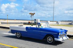 Malecon in Havana with American car, Cuba. Malecon in Havana and typical American car, Cuba Stock Photography