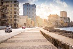 Malecon in Havana, Cuba stock foto's