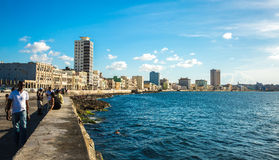 The Malecon in Havana, Cuba.  Royalty Free Stock Images