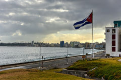 Malecon - Havana, Cuba. The Malecon officially Avenida de Maceo in Havana. It is a broad esplanade, roadway and seawall which stretches for 8 km 5 miles along Royalty Free Stock Images