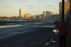 Malecon in Havana, Cuba Stock Photos