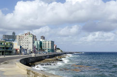 Malecon promenade. Malecon - famous promenade in Havana, Cuba Royalty Free Stock Photos