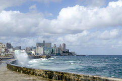 Malecon promenade. Malecon - famous promenade in Havana, Cuba Royalty Free Stock Photography