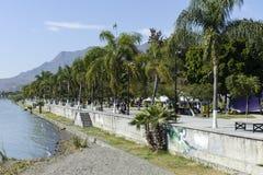 The Malecon public lakeside walkway, Ajijic. The Malecon public lakeside walkway, Lake Chapala, Ajijic, Jalisco, Mexico Stock Photo