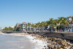 Malecon Puerto Vallarta Royalty Free Stock Photos