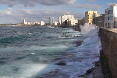 Malecon w Hawańskim Obraz Royalty Free