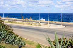 Malecon waterfront. View of the Malecon waterfront from Hotel Nacional de Cuba Royalty Free Stock Photos