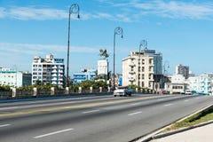 Malecone in Havana Cuba. Avenida de Maceo in Havana Cuba Royalty Free Stock Photo