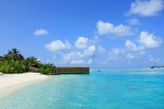 Malediven beach2 stockfotos