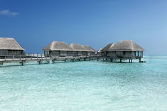 Malediven-Landhaus lizenzfreie stockfotos