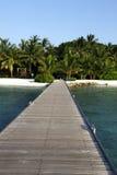 Malediven-Landhaus lizenzfreies stockfoto
