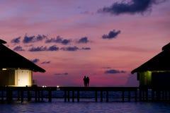 Malediven-Paare stockfoto