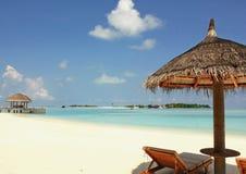 Malediven-Strand-Landschaftsansicht lizenzfreies stockfoto