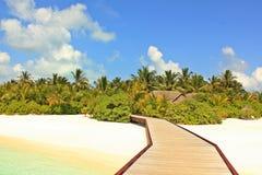 Malediven-Strandansicht lizenzfreies stockbild