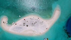 Malediven-Vogelperspektive lizenzfreies stockbild