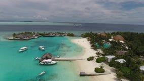 Malediven-Vogelperspektive stock footage