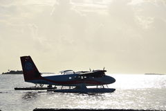 Malediven-Wasserflugzeug Lizenzfreies Stockbild
