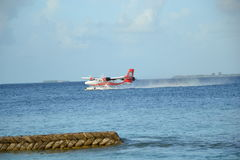 Malediven-Wasserflugzeug Stockbild