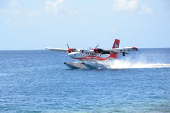 Malediven-Wasserflugzeug Stockbilder