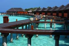 Malediven-Wasserlandhaus Stockbilder