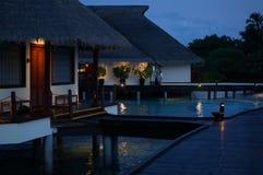 Malediven-Wasserlandhaus draußen Stockbilder