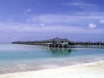 Maledives - Sun Island. Accomodation and beach Stock Image