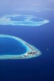 Maledivisch eiland Giraavaru Stock Afbeelding