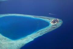 Maledivische Insel Giraavaru lizenzfreie stockfotos
