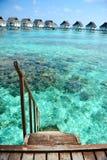 Maledivisches Wasserlandhaus - Bungalowe Lizenzfreie Stockfotos