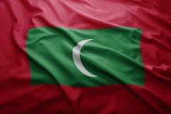 Malediwy bandery Zdjęcie Royalty Free