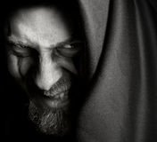 злое злейшего человека оскала malefic зловещее Стоковое фото RF