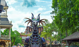 Maleficent Dragon from the Festival of Fantasy Parade. ORLANDO - MAY 2014: Maleficent Dragon from the Festival of Fantasy Parade at the Magic Kingdom, Walt Stock Image