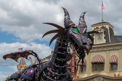 Maleficient dragon in Disney Festival of Fantasy Parade at Magic Kigndom 1