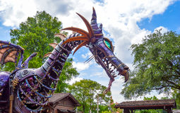 Maleficient Dragon from Festival of Fantasy Parade. At the Magic Kingdom, Walt Disney World in Florida. Picture taken 28th May 2014 Royalty Free Stock Images