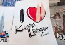 Maleise herinneringst-shirts voor verkoop Stock Afbeelding