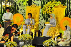 Maleise huwelijksceremonie royalty-vrije stock foto