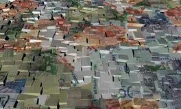 Maleise munt op blokken Stock Foto