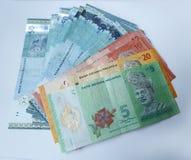 Maleise ringgit munt op witte achtergrond Stock Afbeelding