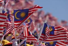 Maleise vlag Stock Afbeeldingen