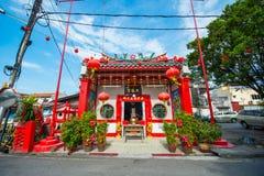 Maleisië - 11 Februari 2017:: Chinese tempel in Melaka Royalty-vrije Stock Foto's