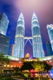 Maleisië - 12 Februari 2017:: Het symbool van de Petronastoren van Kuala lum Royalty-vrije Stock Afbeeldingen