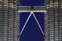 Maleisië; Kuala Lumpur; tweeling torens van petronas Royalty-vrije Stock Afbeeldingen